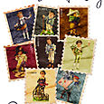 Vintage Boy Stamps